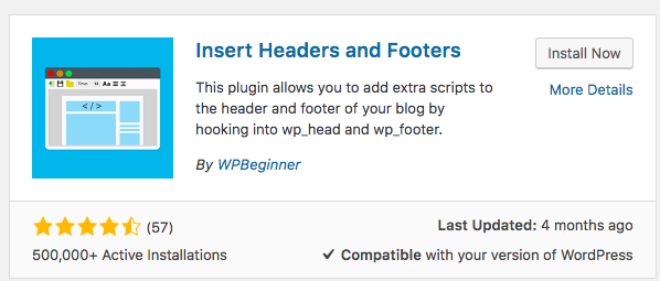 Install Headers Plugin