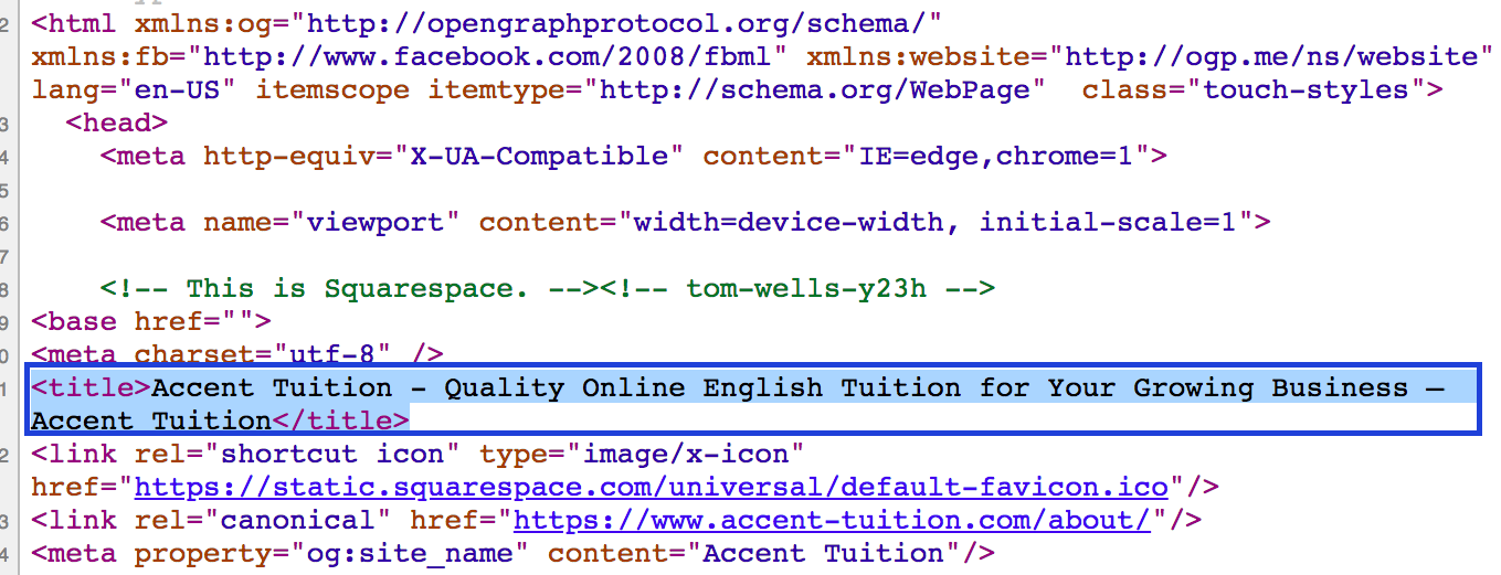Title HTML Tag