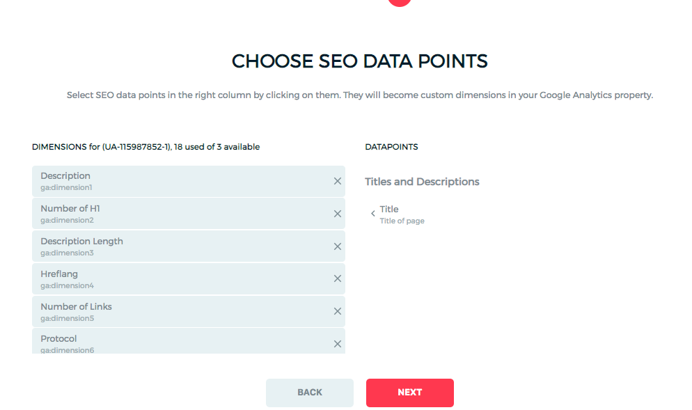 Select Datapoint in Onpage Hero