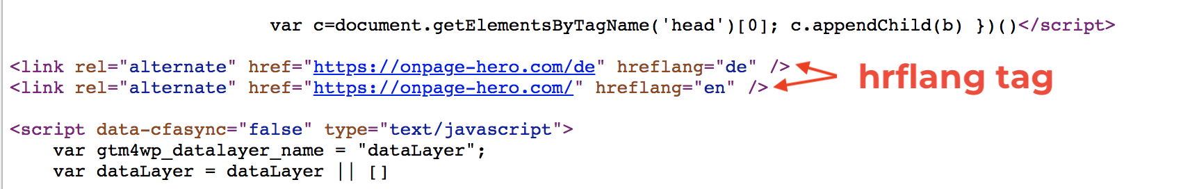 Hreflang Tag Source Code